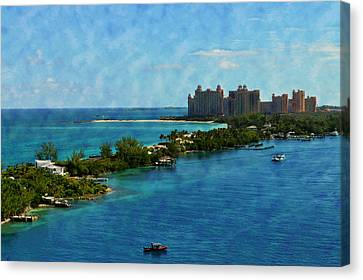 Blue Water Canvas Print by Kathy Jennings