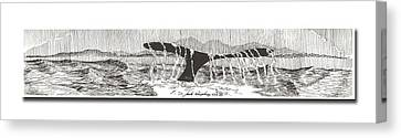 Whales Tail Canvas Print