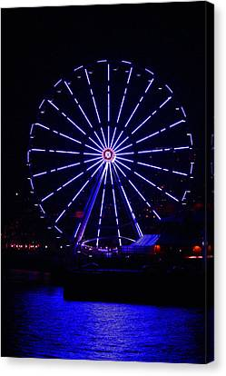 Blue Wheel Of Fortune Canvas Print by Kym Backland