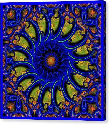 Blue Whirligig Canvas Print