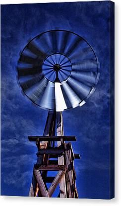 Blue Windmill Canvas Print