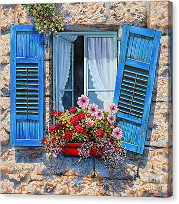 Blue Window Canvas Print by Miki Karni
