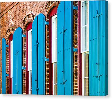 Blue Windows Canvas Print by Carolyn Marshall