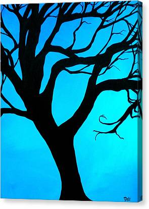 Gnarly Canvas Print - Blue Winter by Debi Starr