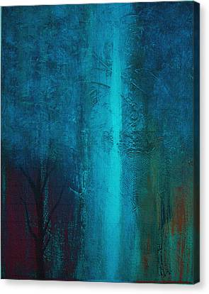 Canvas Print featuring the painting Blue Winter by Yul Olaivar