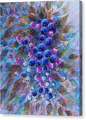 Blueberries Canvas Print by Natalie Holland