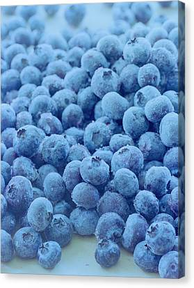 Berry Canvas Print - Blueberries by Romulo Yanes