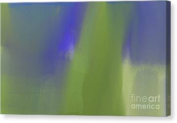 Blueberry And Avocado Abstract Canvas Print by Andee Design