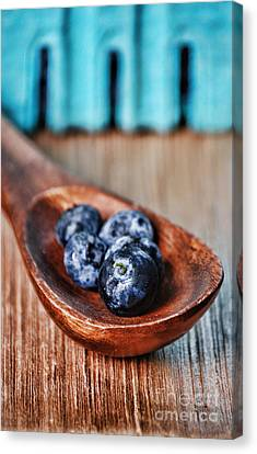 Wooden Box Canvas Print - Blueberry by HD Connelly
