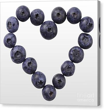 Blueberry Heart Canvas Print by Gwen Shockey