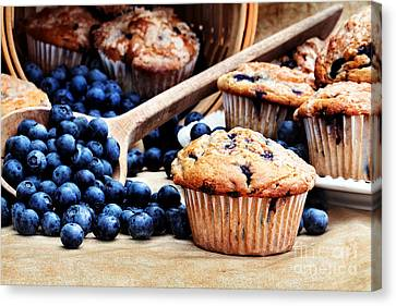 Blueberry Muffins Canvas Print by Stephanie Frey
