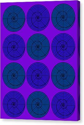Blueberry Orb Circle Bubble Pop A La After Warhol  Canvas Print