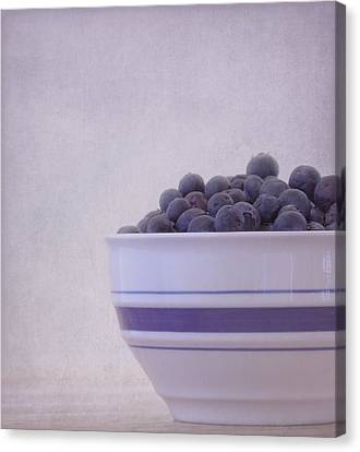 Sour Canvas Print - Blueberry Splash by Kim Hojnacki