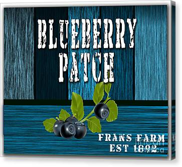 Blueberrys Canvas Print by Marvin Blaine