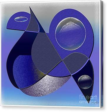 Canvas Print featuring the digital art Bluebird by Iris Gelbart