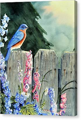 Bluebird Morning Canvas Print