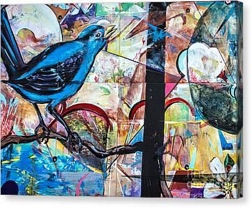 Bluebird Signs Canvas Print