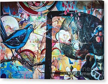 Bluebird Sings Canvas Print by Terry Rowe