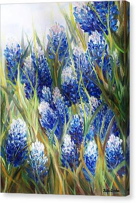 Bluebonnet Barrage  Canvas Print