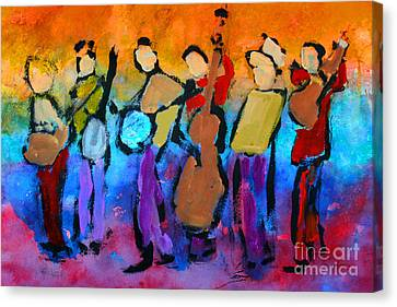 Bluegrass Band Canvas Print by Mordecai Colodner