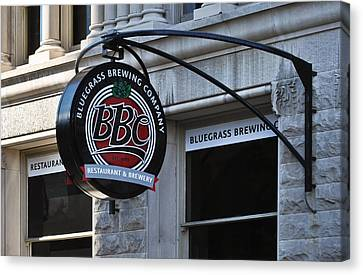 Canvas Print featuring the photograph Bluegrass Brewing Company by Greg Jackson