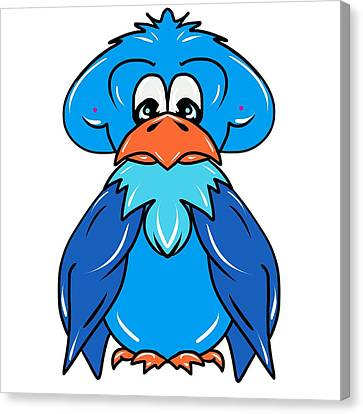 Bluejay Canvas Print - Bluejay Character Bird by Laurie Pike