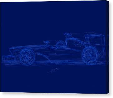 Blueprint For Speed Canvas Print by Stacy C Bottoms