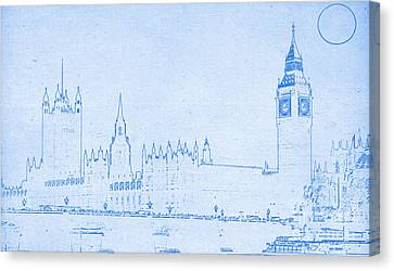 Blueprint London Canvas Print