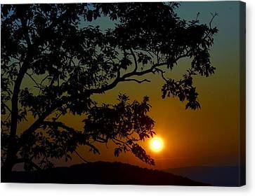 Blueridge Sunset Canvas Print by Cathy Shiflett