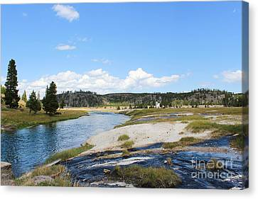 Blues And Greens Of Yellowstone Canvas Print