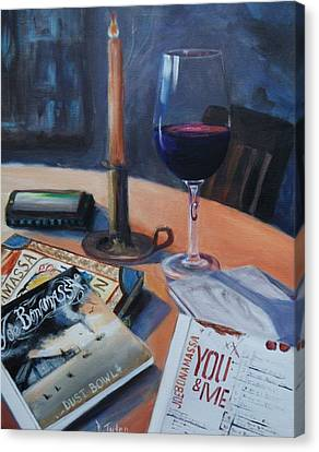 Blues And Wine Canvas Print