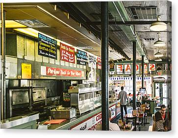 Barbecue Canvas Print - Blues City Cafe by Jon Woodhams