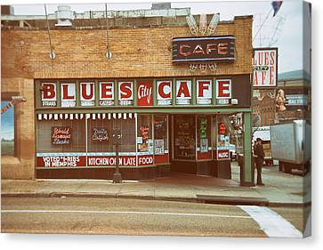 Blues City Cafe On Beale Street Memphis Canvas Print by Mary Lee Dereske