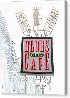 Blues City Cafe Sign Canvas Print