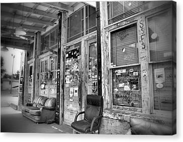 Blues Club In Black And White Canvas Print