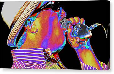 Blues Harp Canvas Print