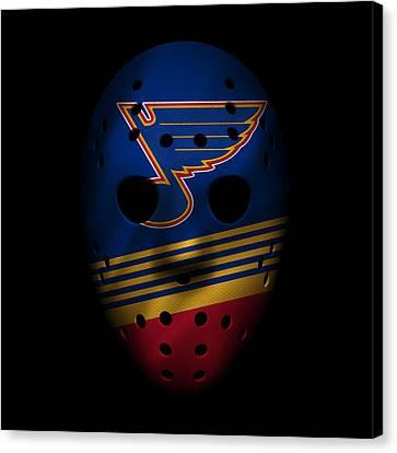 Blues Jersey Mask Canvas Print by Joe Hamilton