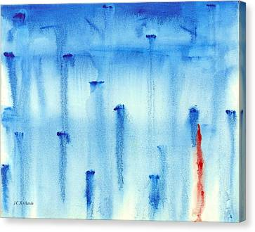 Blues Nails Canvas Print