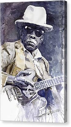 Bluesman John Lee Hooker 3 Canvas Print by Yuriy  Shevchuk