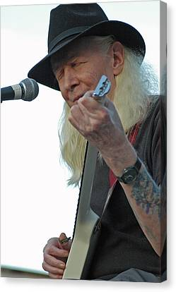 Bluesman Johnny Winter Canvas Print by Mike Martin