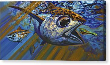 Bluewater Hellraisers Canvas Print by Savlen Art