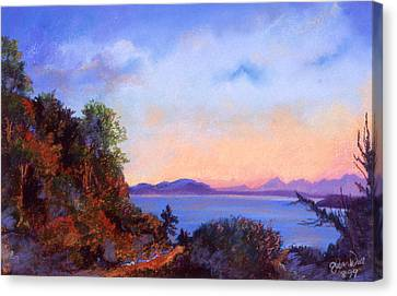 Canvas Print featuring the pastel Bluff by Susan Will