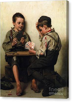 Bluffing Canvas Print by Pg Reproductions