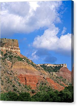 Bluffs In The Glass Mountains Canvas Print