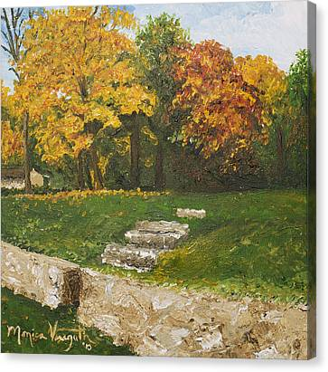 Bluffside In Autumn Canvas Print by Monica Veraguth