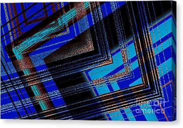 Bluish Geometric Design Canvas Print by Mario Perez