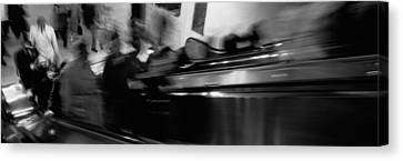 Blurred Motion, People, Grand Central Canvas Print by Panoramic Images