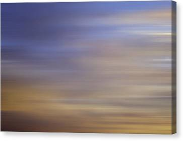 Canvas Print featuring the photograph Blurred Sky3 by John  Bartosik