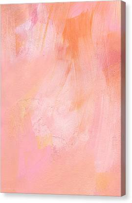Blush- Abstract Painting In Pinks Canvas Print by Linda Woods