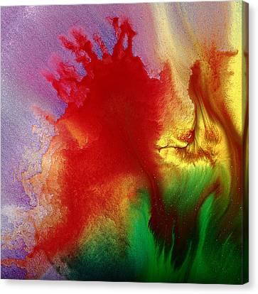 Blush - Colorful Abstract Fluid Macro Photography By Kredart Canvas Print by Serg Wiaderny